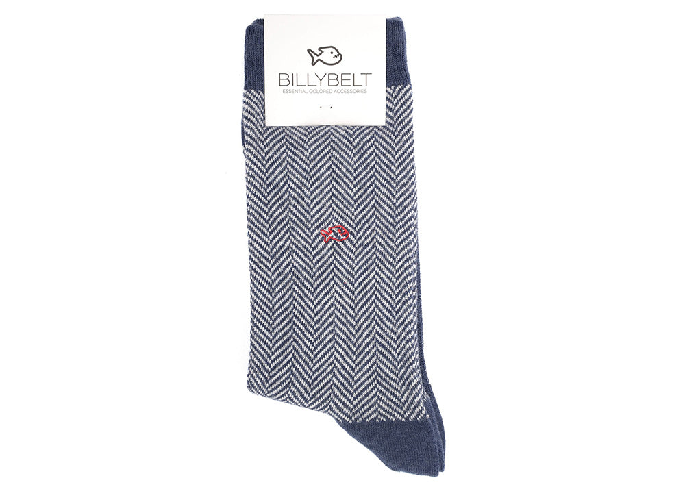 Billybelt Herringbone Socks | Navy