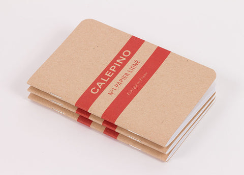 Calepino Set of 3 Notebooks - Ruled Paper