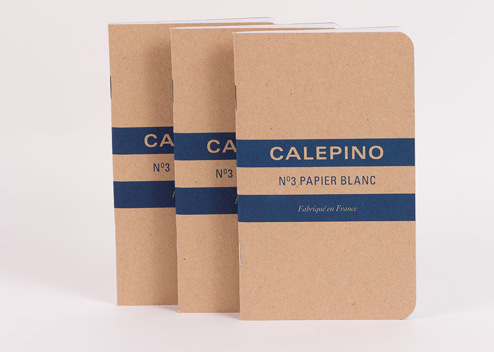 Calepino Set of 3 Notebooks - Plain Paper