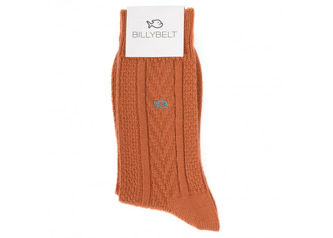 Billybelt Merino Aran Socks | Burnt Orange