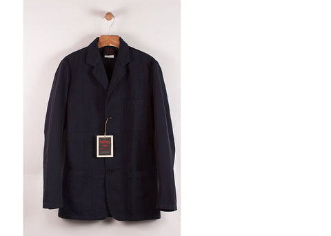 Vetra No.24 Cotton Ottoman Blazer | Navy