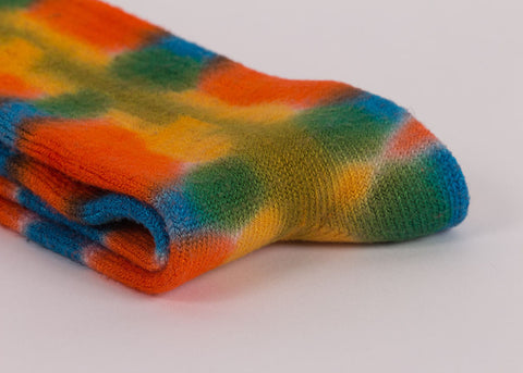 made by hippies Tie Dye Crew Socks | Sunshine