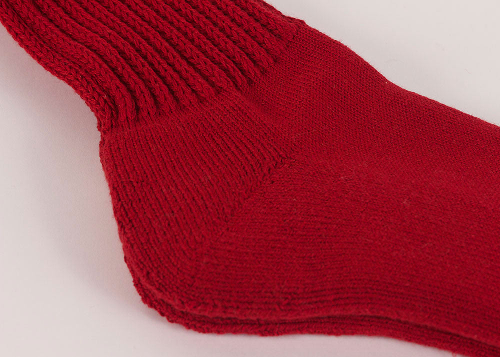 Rototo Loose Pile Walking Socks | Red