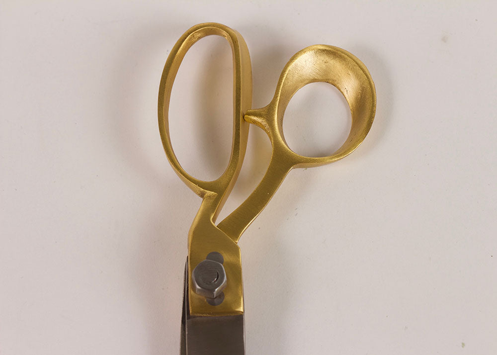 Shopkeeper Hand Forged Steel & Brass Scissors  | Large