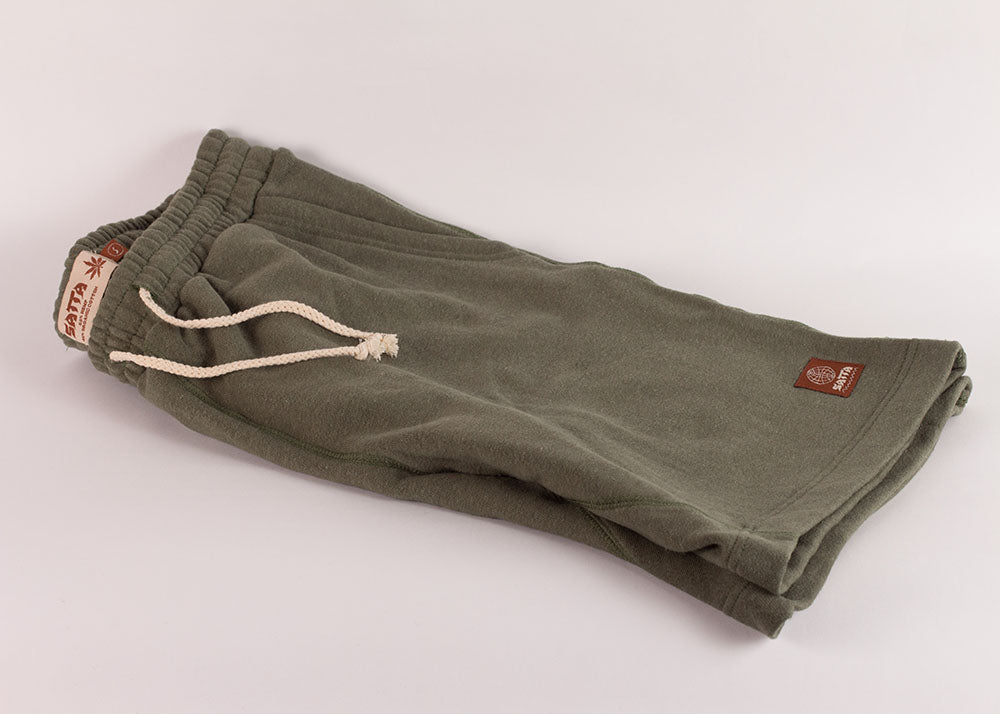 Satta Asana Hemp Shorts | Herb Green