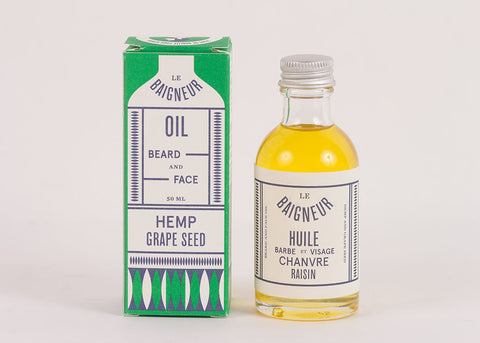 Le Baigneur Beard & Face Oil | Hemp & Grape Seed