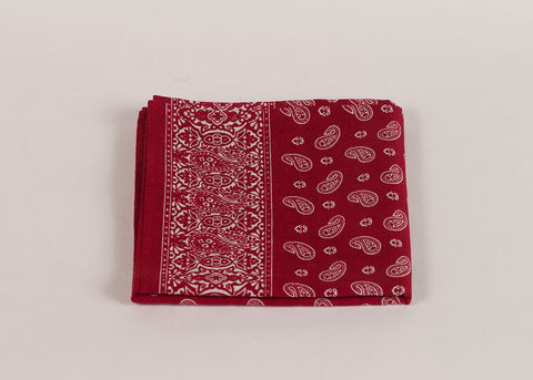 Shopkeeper Paisley Bandana | Madder Red