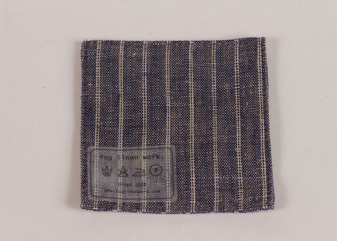 Fog Linen Work Linen coaster | Chambray Stripe