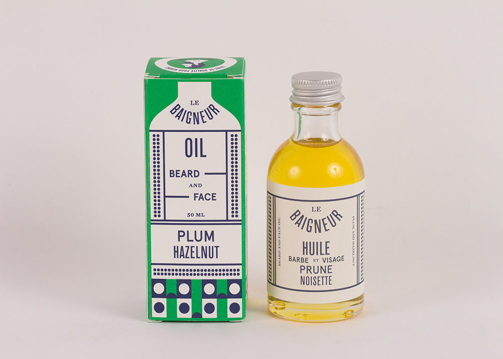 Le Baigneur Beard & Face Oil | Plum & Hazelnut