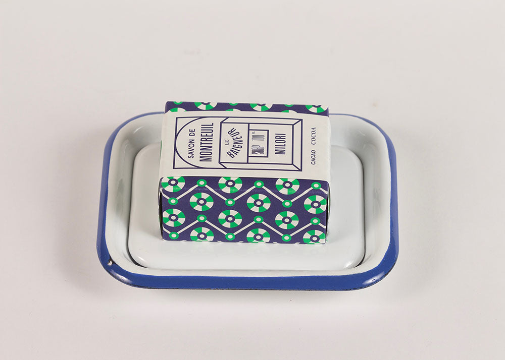 Shopkeeper Enamel Soap Dish | White