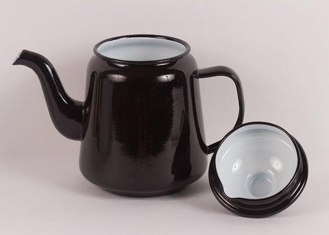 Falcon Enamelware Teapot | Coal Black