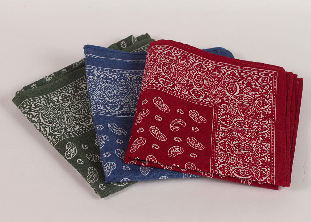 Shopkeeper Paisley Bandana | Smoke Blue