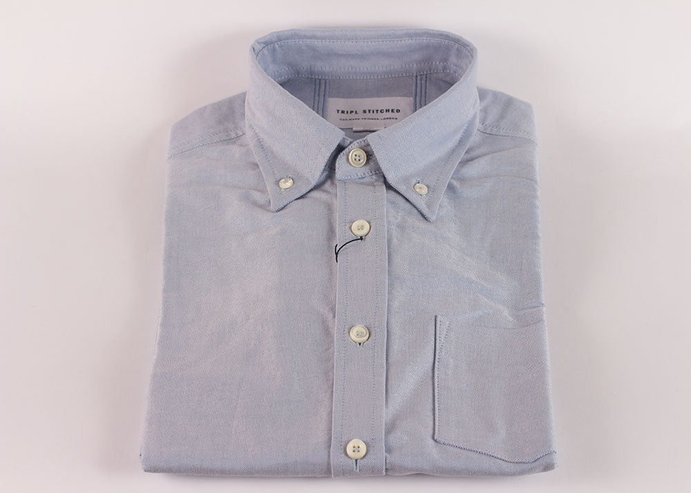 Tripl Stitched Classic Button Down | Sky Blue Oxford
