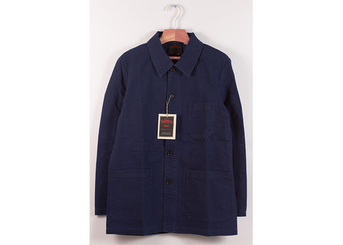 Vetra Washed Cotton Twill Work Jacket | Marine