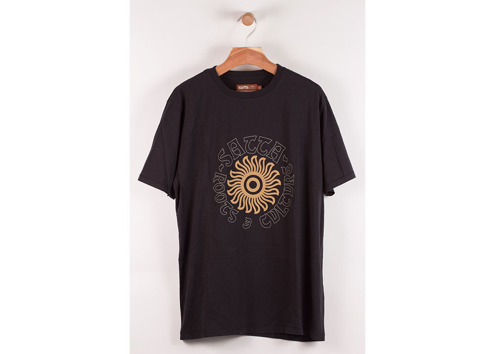 Satta Sunspot Tee | Washed Black