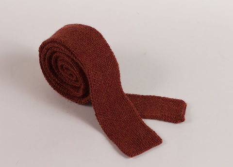 Shopkeeper Studio Wool Knit 'Artist' Tie | Madder Red