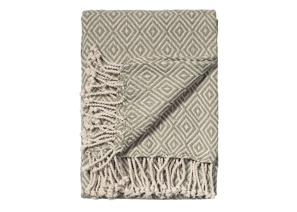 Namaste Cotton Handloom Throw | Vintage Sage