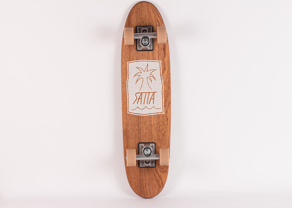 Satta Palm Squash Tail Skateboard | Sapele Wood