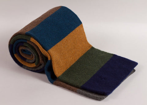 Shopkeeper 'House Stripe' Lambswool Scarf | Teal Mix