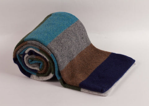 Shopkeeper 'House Stripe' Lambswool Scarf | Tabacco Mix