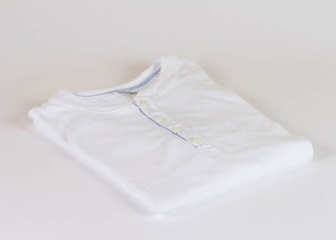 Schiesser Original 1/2 Button Long Sleeve - White