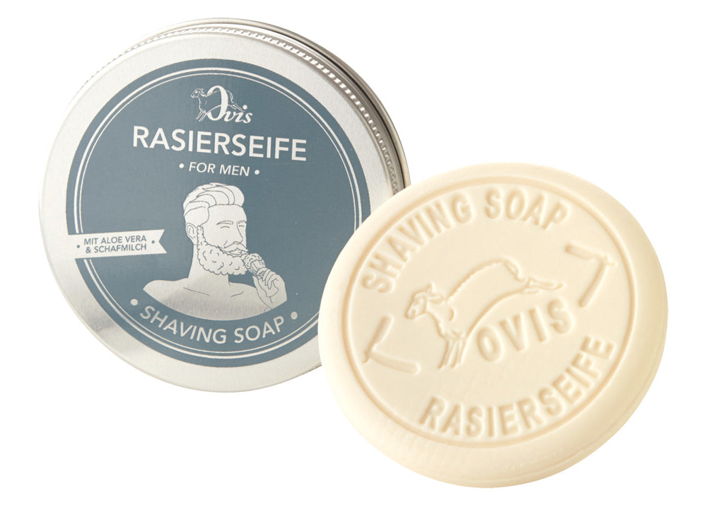 Ovis Shave Soap Tin | Sheep Milk