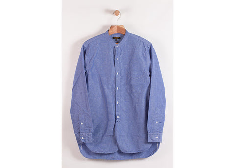 *A VONTADE Banded Collar Shirt | Marine