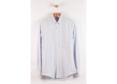 Tripl Stitched Classic Button Down | Sky Oxford Stripe