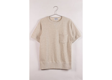 Velva Sheen Short Sleeve Pocket Sweatshirt | Oatmeal