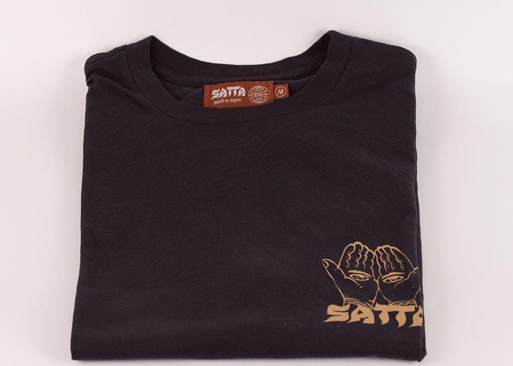 Satta Incense Supply Tee | Washed Black