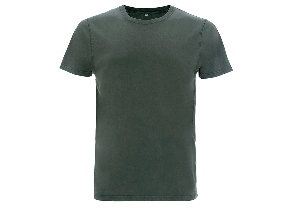 Earth Positive Organic Cotton Crewneck T-Shirt | Stonewash Green