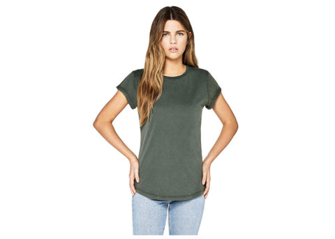 Earth Positive Organic Crewneck T-Shirt | Stonewash Green