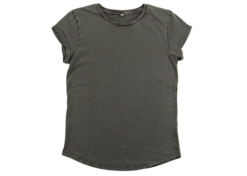 Earth Positive Women's Organic Rolled Sleeve T-Shirt | Stonewash Grey