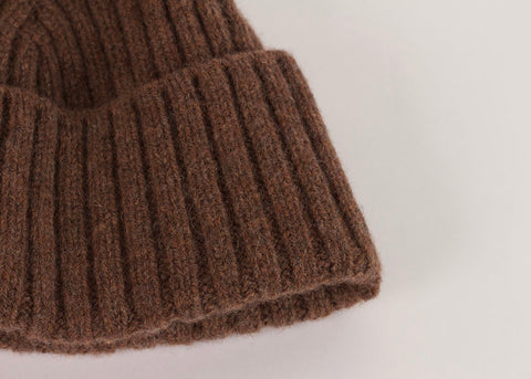 Shopkeeper Lambswool Watch Cap | Tobacco