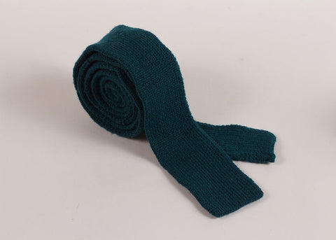 Shopkeeper Studio Wool Knit  'Artist' Tie | Teal Blue