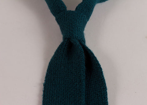 Shopkeeper Wool Knit  'Artist' Tie | Teal Blue