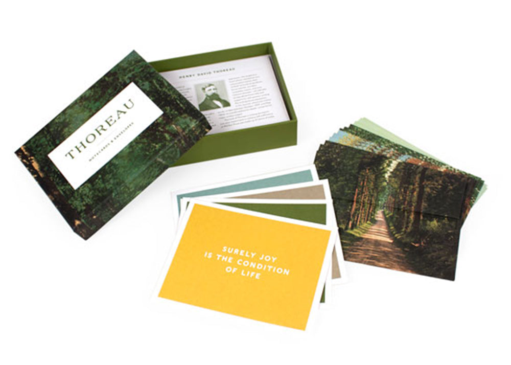 Princeton Architectural Press Thoreau Notecards | Henry David Thoreau