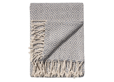 Namaste Cotton Handloom Throw | Slate Grey