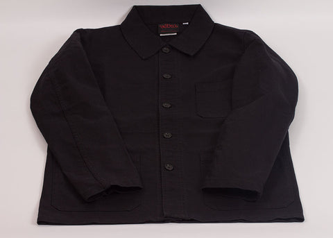 Vetra Washed Cotton Twill Work Jacket | Black