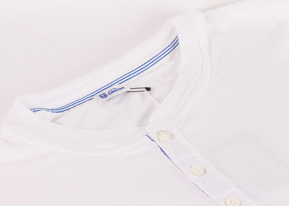 Schiesser Original Short Sleeve Henley | White