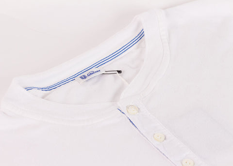 Schiesser Original 1/2 Button Short Sleeve - White