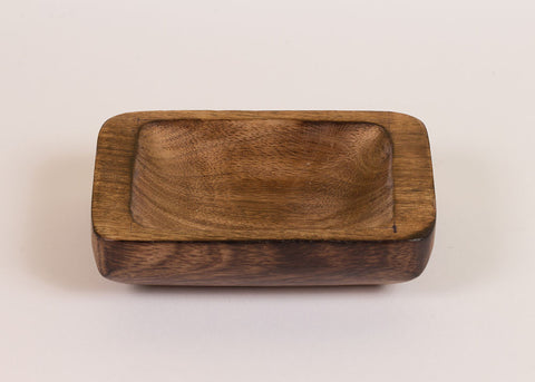 Fog Linen Work mango wood condiment dish