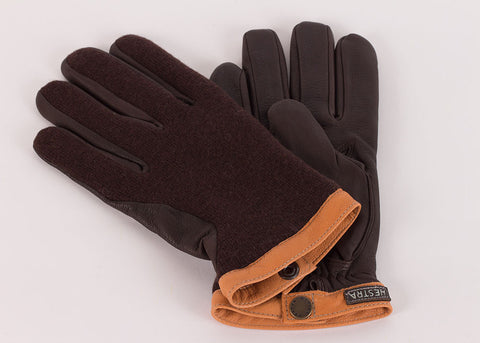 Hestra Deerskin Wool Glove - Expresso | Dark Brown
