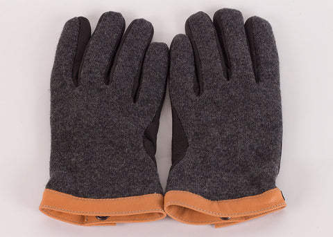 Hestra Deerskin Wool Glove - Charcoal | Black