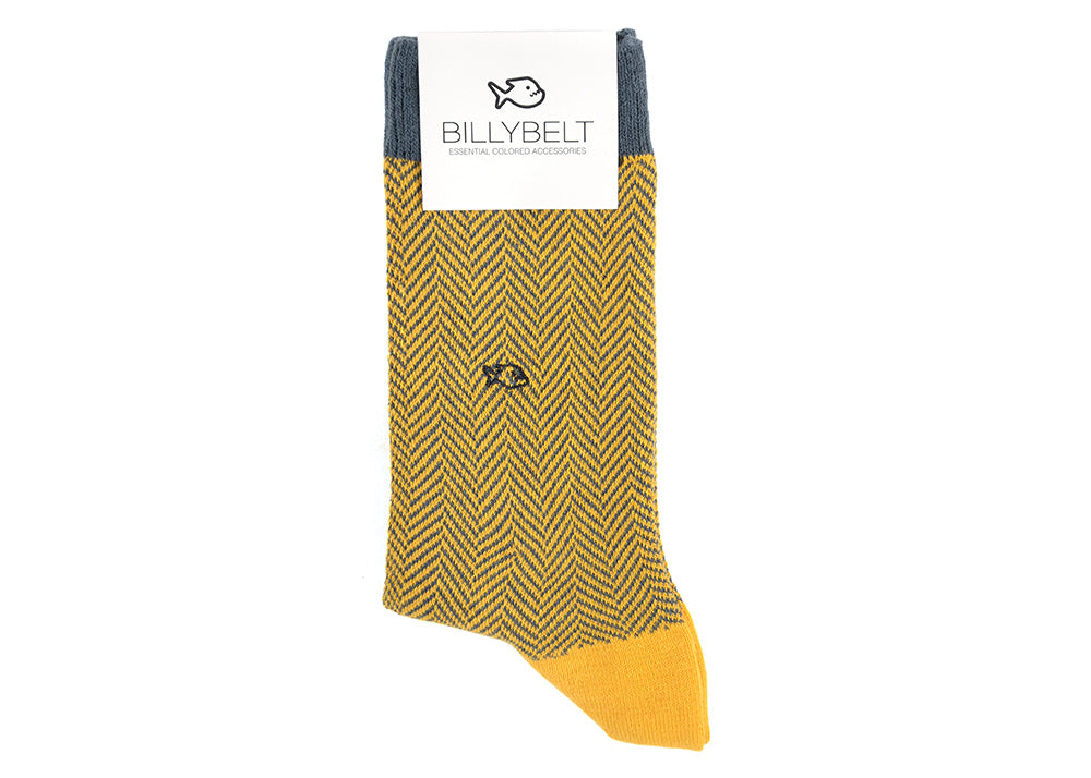 Billybelt Herringbone Socks | Mustard