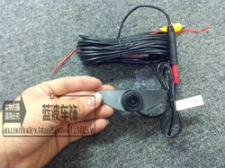 Front CCD camera w/ 6 m video cable for Nissan Altima front emblem mounted
