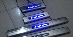 New LED Illuminated Stainless Steel Kick Plate Scuff Plate Set for Chevy Cruze 2009-2015