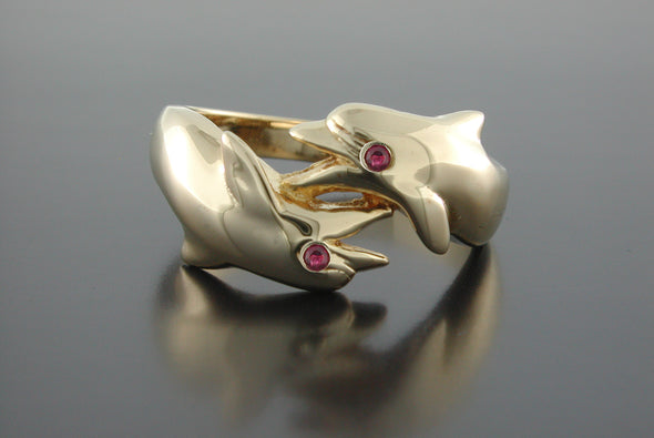 Double Porpoise Ring
