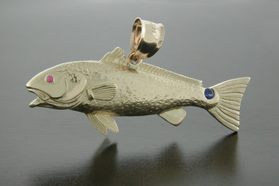 14K Gold Medium Redfish Pendant
