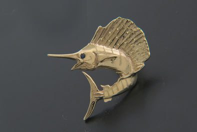 Small Jumping Sailfish Pendant